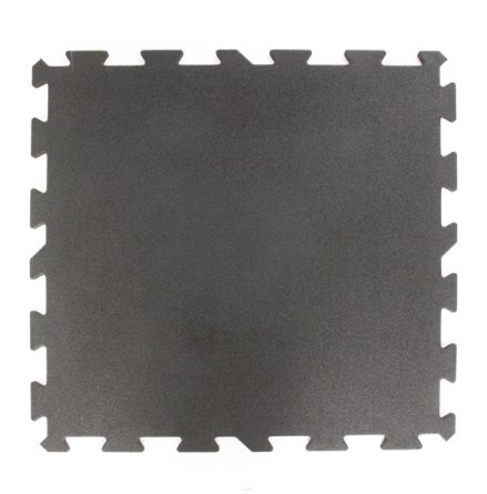 Gummigolv pussel 40mm, svart 1x1m