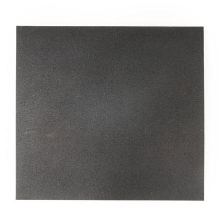 Gummigolv raka kanter 43mm, svart 1x1m